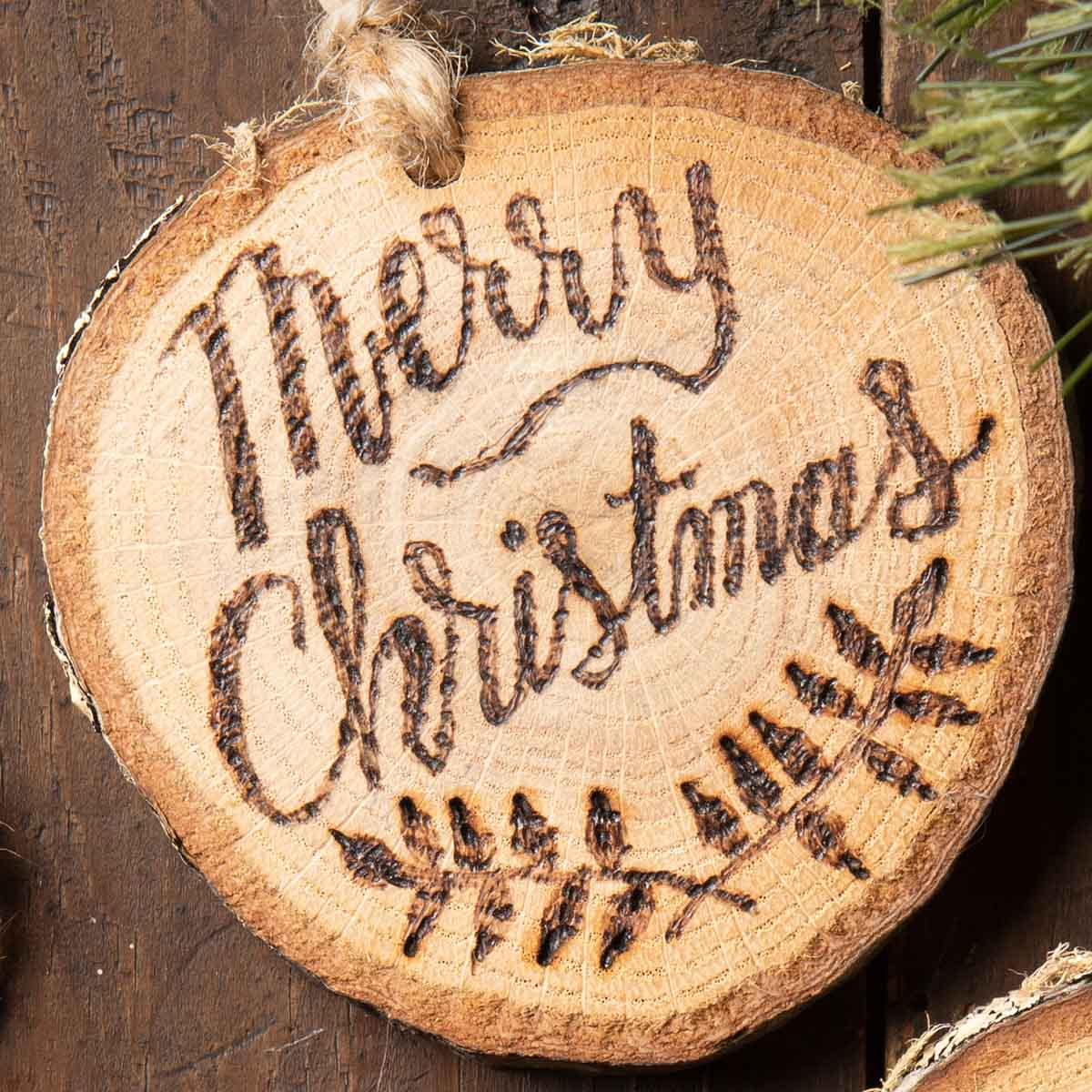 Rustic Wood-burned Ornaments