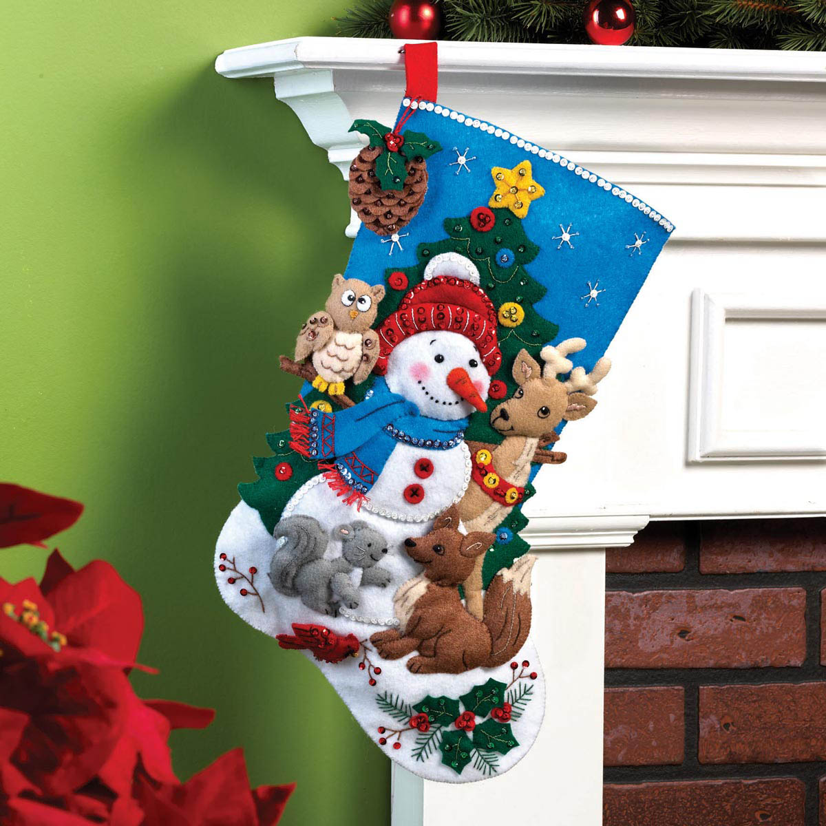 Bucilla ® Seasonal - Felt - Stocking Kits - Woodland Snowman