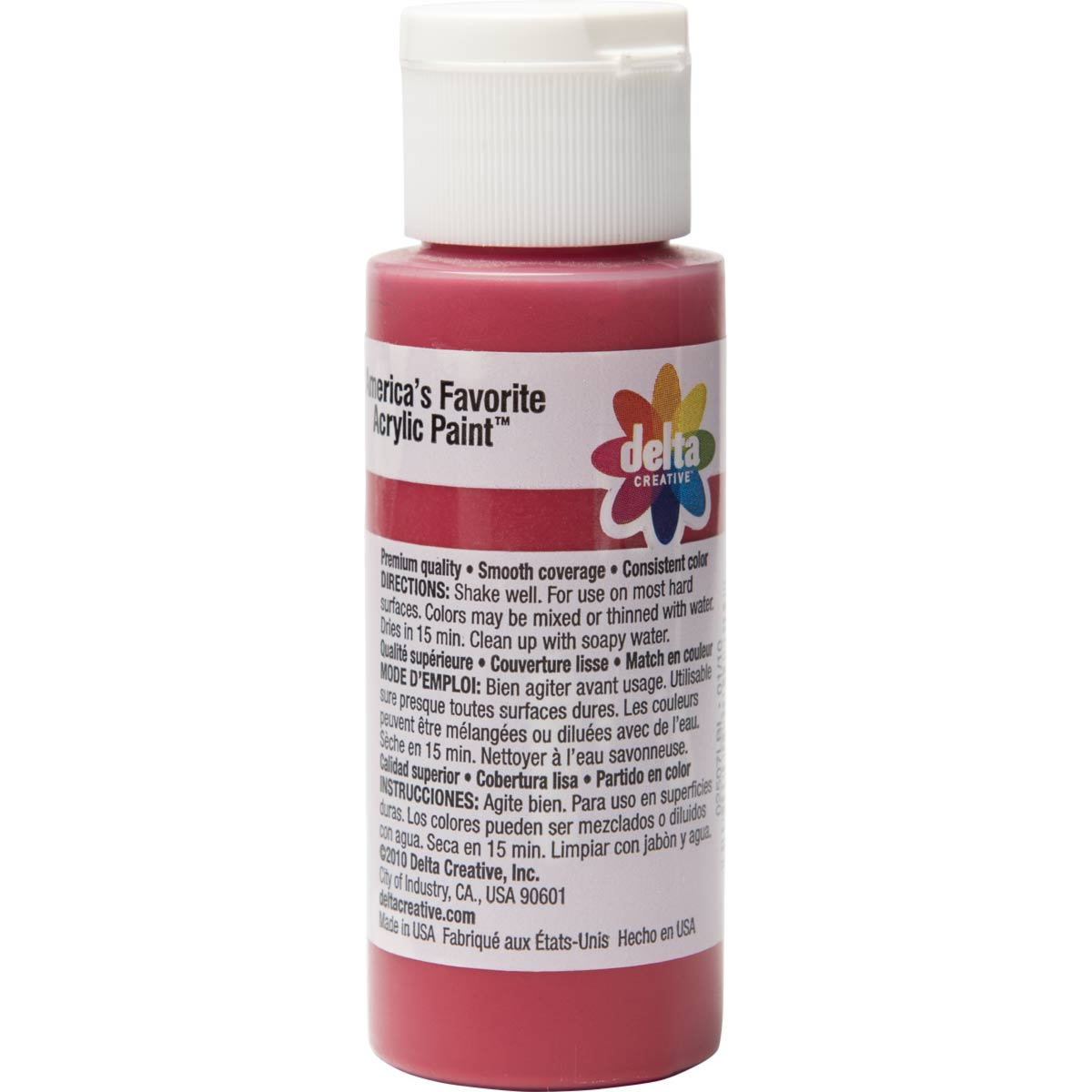 Delta Ceramcoat ® Acrylic Paint - Opaque Red, 2 oz.