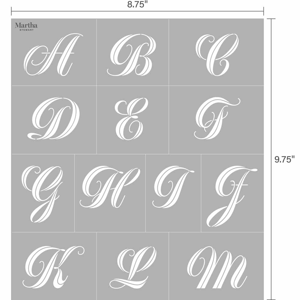 Martha Stewart ® Adhesive Stencil - Greyton Script - 5679