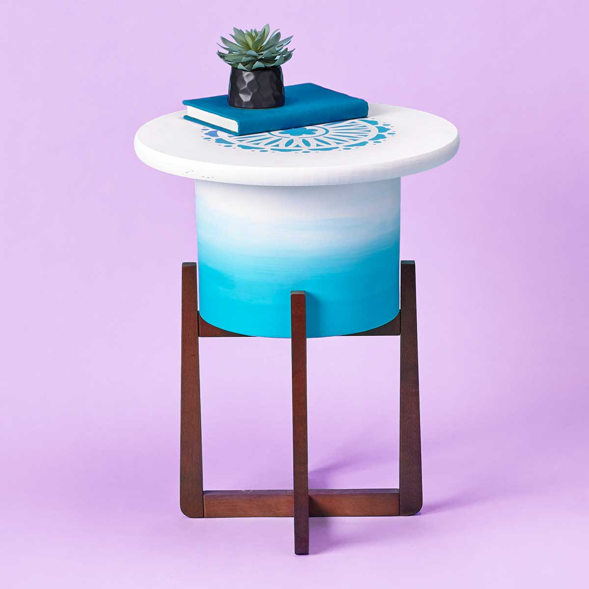 Ombre Planter End Table
