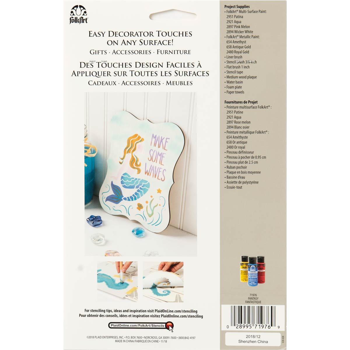 FolkArt ® Craft Stencils - Value Packs - Fantasy