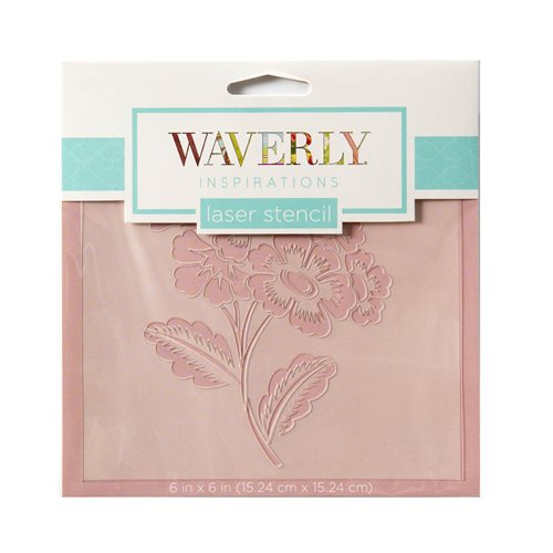 "Waverly ® Inspirations Laser Stencils - Accent - Floral Sprig, 6"" x 6"""
