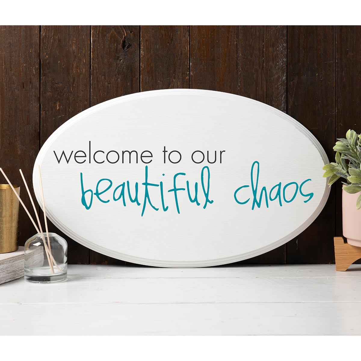FolkArt ® Sign Shop™ Mesh Stencil - Beautiful Chaos - 63387