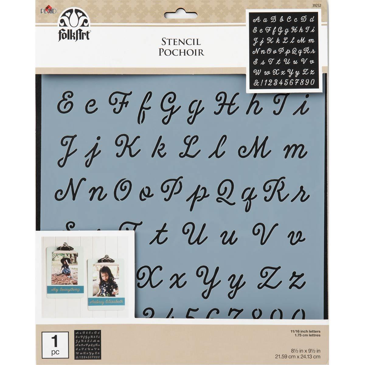 FolkArt ® Painting Stencils - Large - Tiera Script