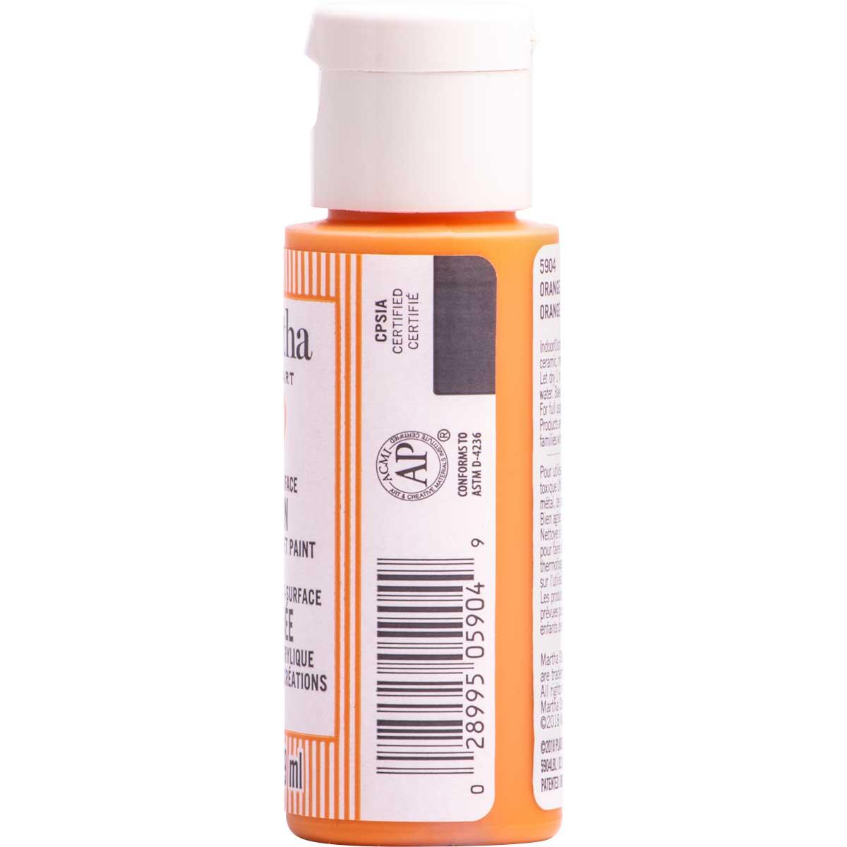 Martha Stewart ® Multi-Surface Satin Acrylic Craft Paint CPSIA - Orange Floatie, 2 oz. - 5904