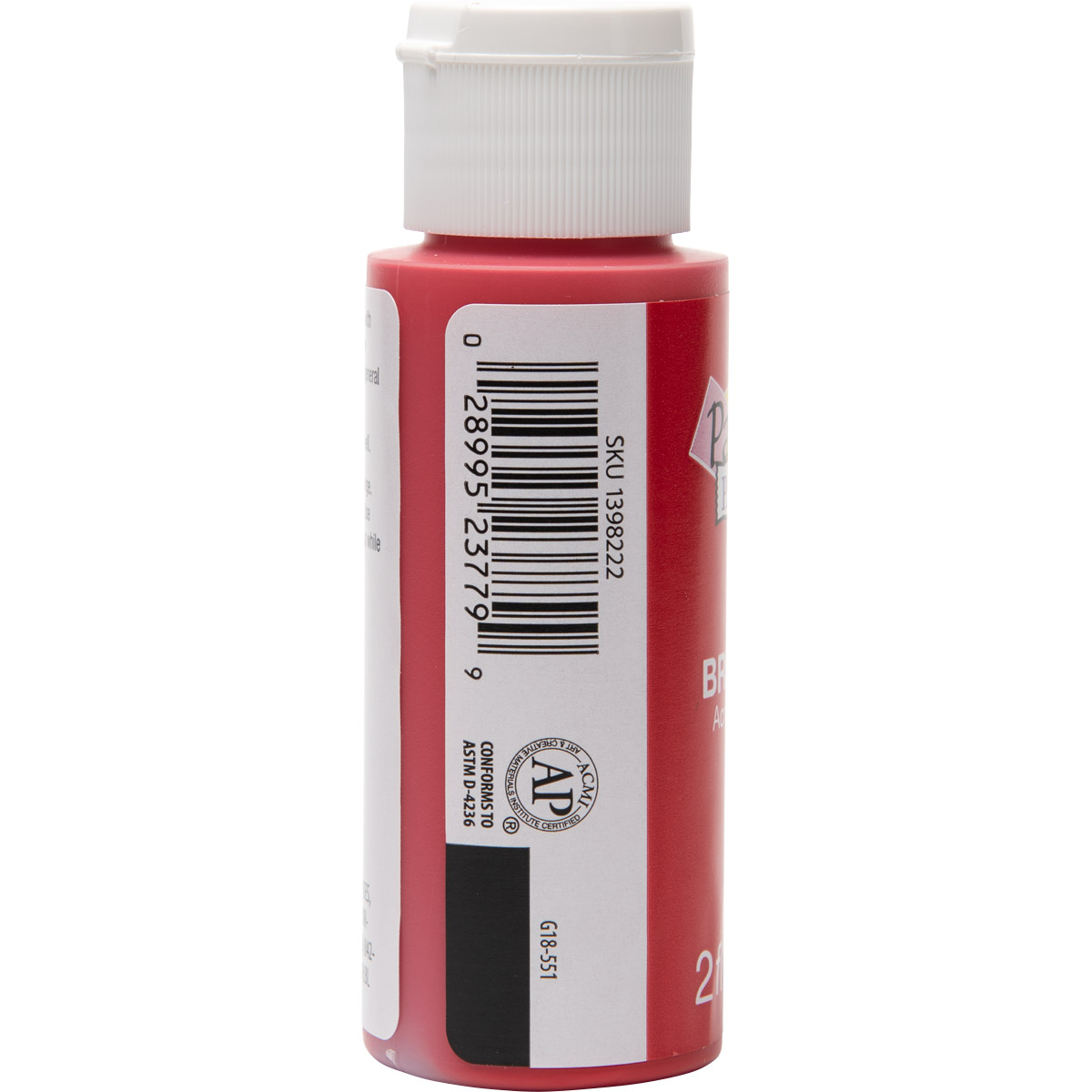 Plaid ® Painter's Palette™ Acrylic Paint - Bright Red, 2 oz. - 23779
