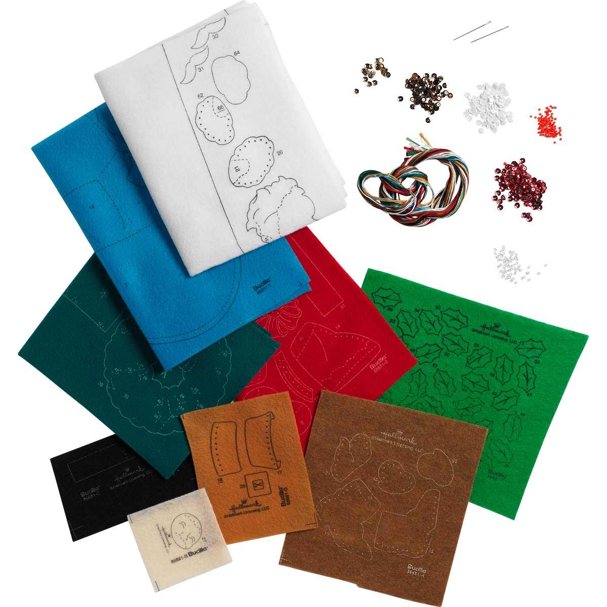 Bucilla ® Seasonal - Felt - Stocking Kits - Hallmark - Greetings From Santa - 86881