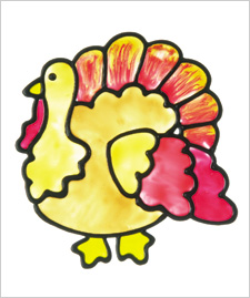 Turkey Window Cling