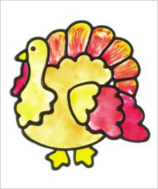 Turkey Window Cling
