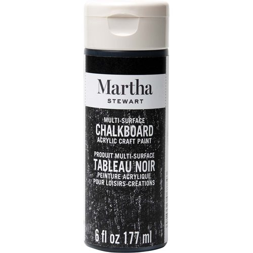 Martha Stewart ® Multi-Surface Chalkboard Acrylic Craft Paint - Black, 6 oz. - 32217CA