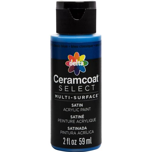 Delta Ceramcoat ® Select Multi-Surface Acrylic Paint - Satin - Classic Blue, 2 oz.