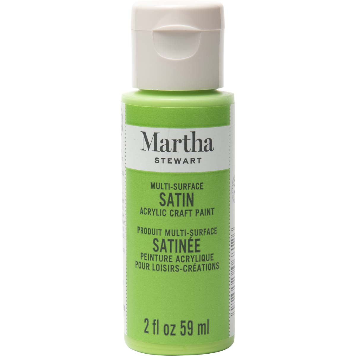 Martha Stewart® 2oz Multi-Surface Satin Acrylic Craft Paint - Snow Pea