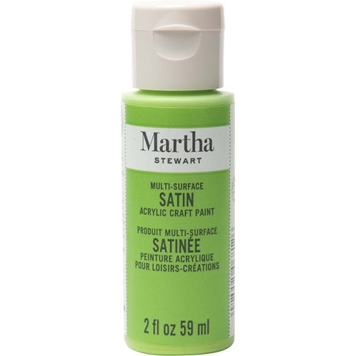 Martha Stewart® 2oz Multi-Surface Satin Acrylic Craft Paint - Snow Pea
