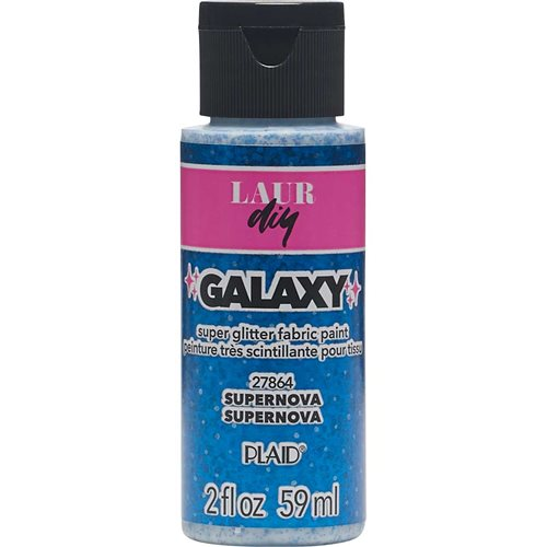 LaurDIY ® Galaxy Glitter Fabric Paint - Supernova, 2 oz.