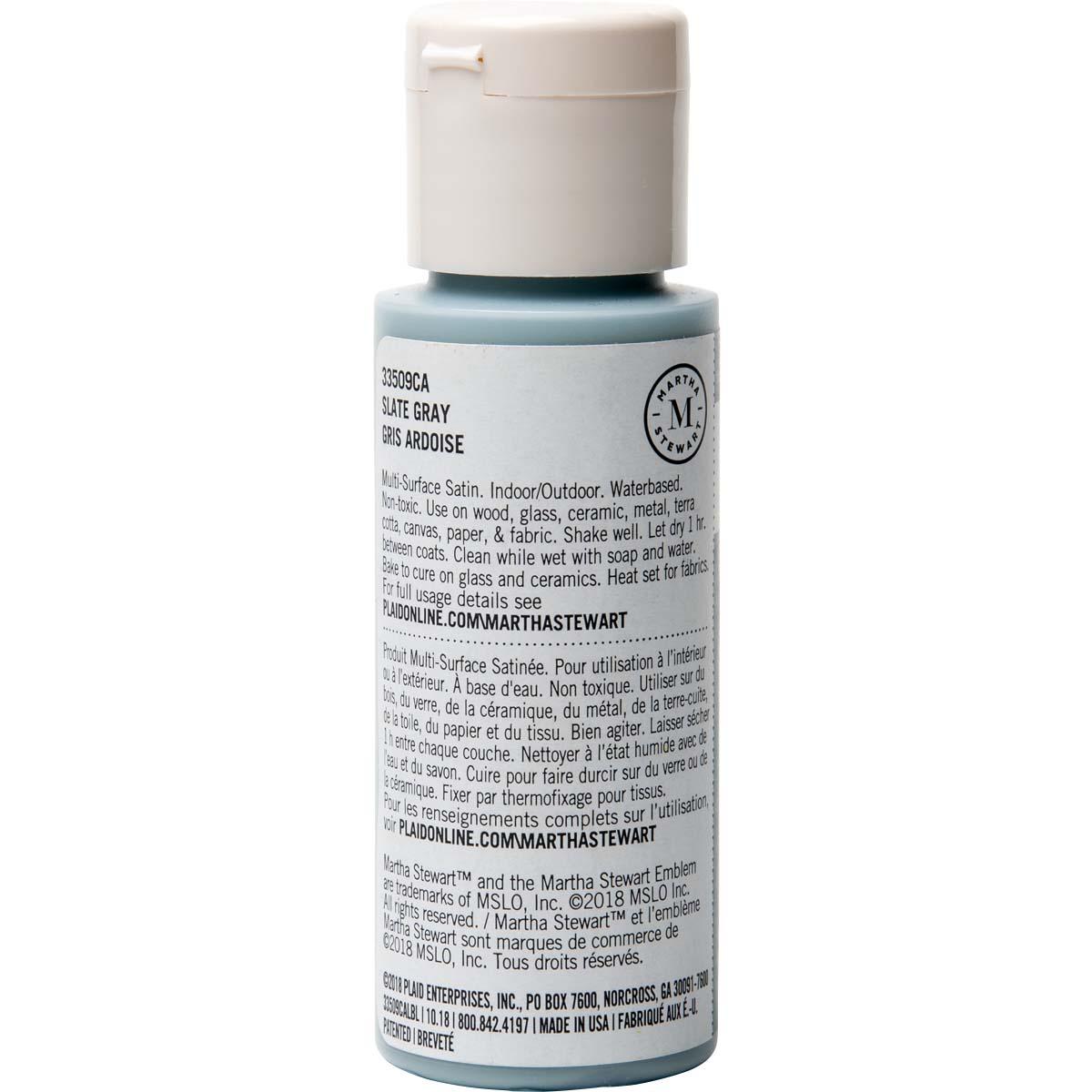 Martha Stewart® 2oz Multi-Surface Satin Acrylic Craft Paint - Slate Gray