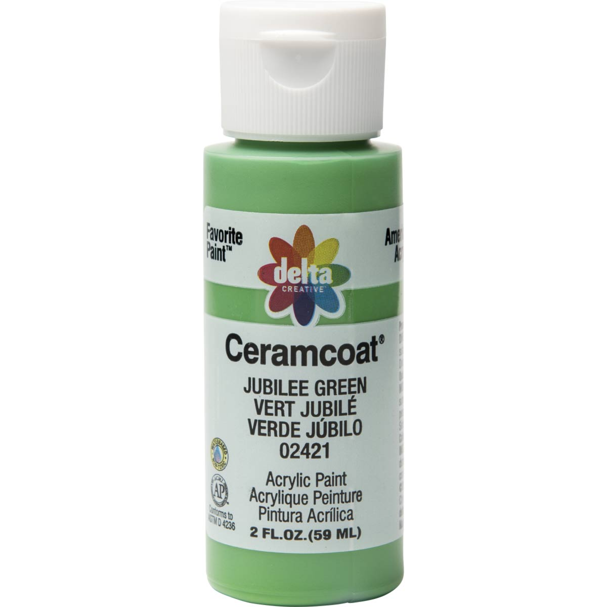Delta Ceramcoat ® Acrylic Paint - Jubilee Green, 2 oz.