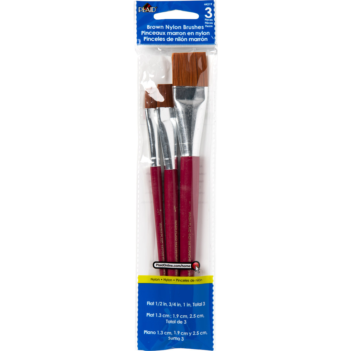 Plaid ® Brush Sets - Wood Brush Set, Flats - 44219