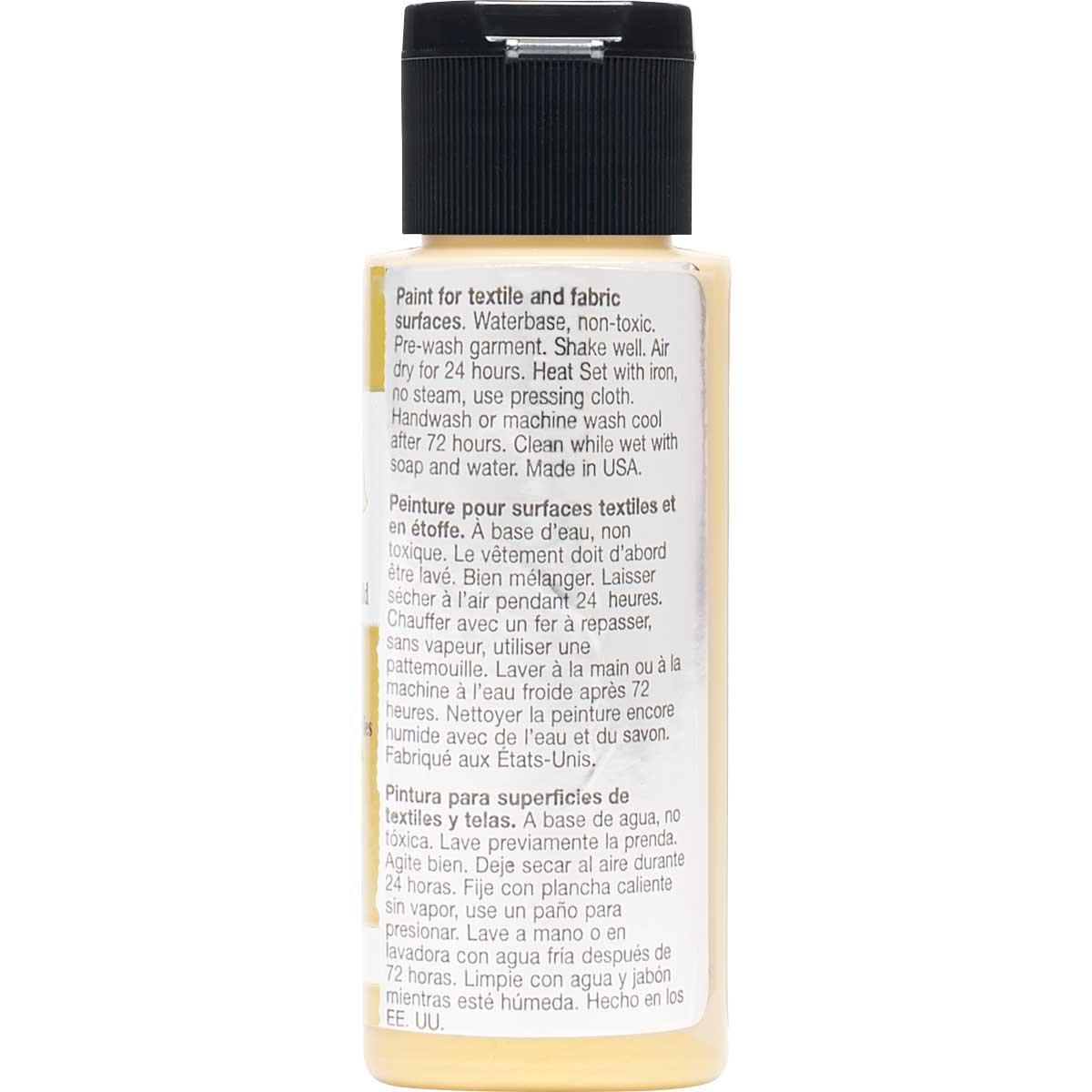 FolkArt ® Fabric™ Paint - Brush On - Metallic Inca Gold - 4430