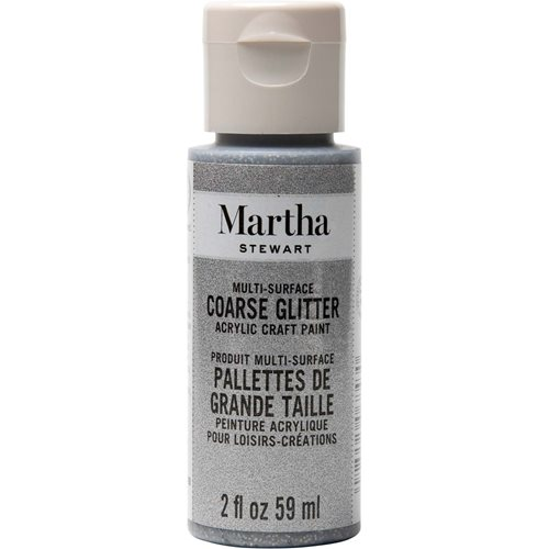 Martha Stewart ® Multi-Surface Coarse Glitter Acrylic Craft Paint - Sterling, 2 oz. - 32960CA