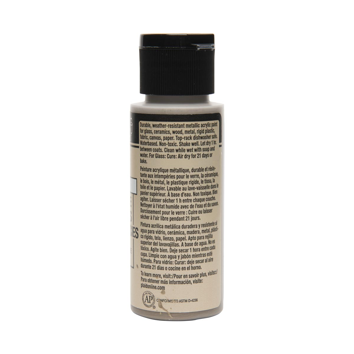 FolkArt ® Multi-Surface Metallic Acrylic Paints - Taupe, 2 oz.