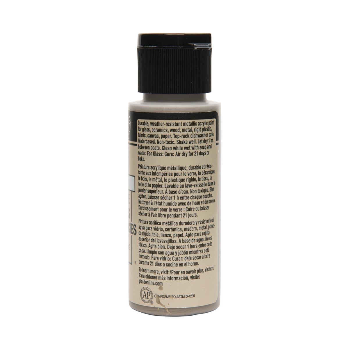 FolkArt ® Multi-Surface Metallic Acrylic Paints - Taupe, 2 oz.