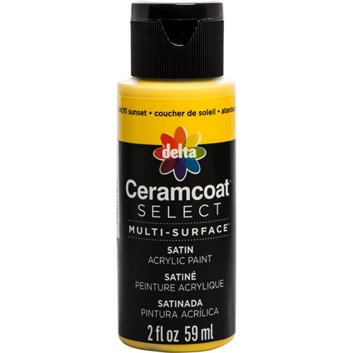 Delta Ceramcoat ® Select Multi-Surface Acrylic Paint - Satin - Sunset, 2 oz. - 04011