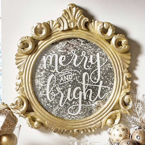 "Glam ""Merry & Bright"" Sign"
