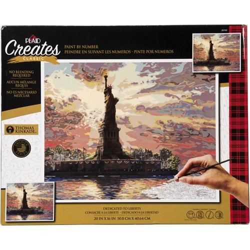 Plaid ® Paint by Number - Thomas Kinkade™ - Dedicated to Liberty