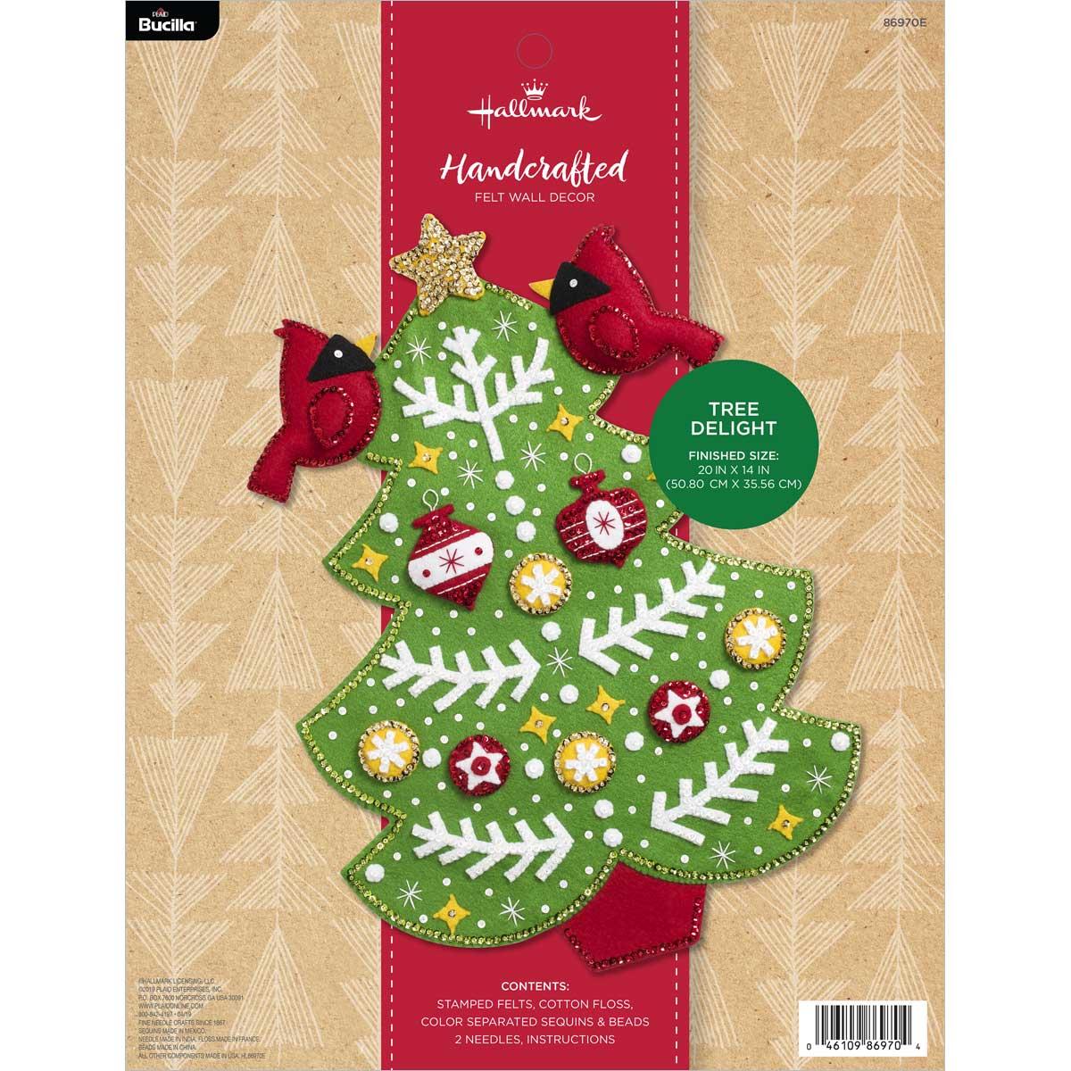 Bucilla ® Seasonal - Felt - Home Decor - Hallmark -  Tree Delight Wall Hanging