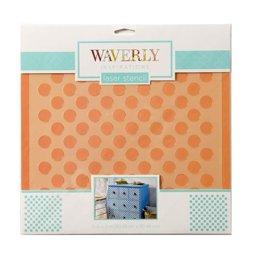 "Waverly ® Inspirations Laser Stencils - Décor - Big Dot, 12"" x 12"""