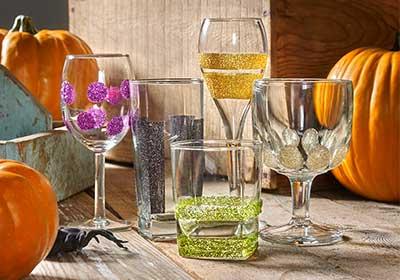 Decoupaged Halloween Glasses