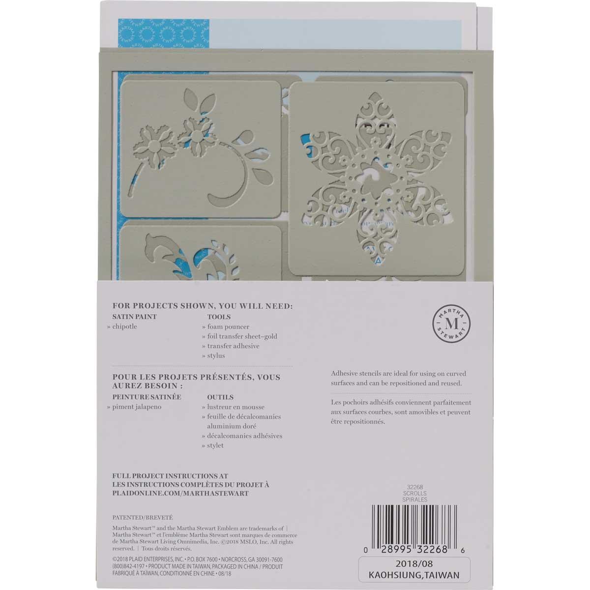 Martha Stewart ® Adhesive Stencil - Scrolls - 32268