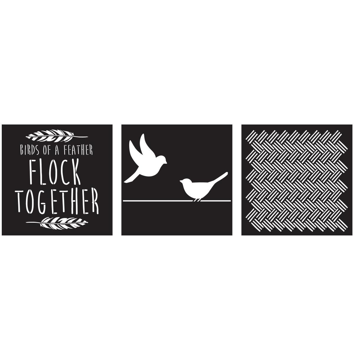 FolkArt ® Craft Stencils - Value Packs - Love Birds
