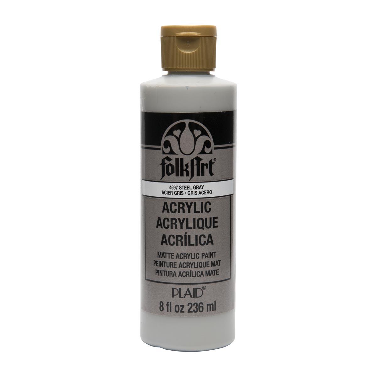 FolkArt ® Acrylic Colors - Steel Gray, 8 oz.
