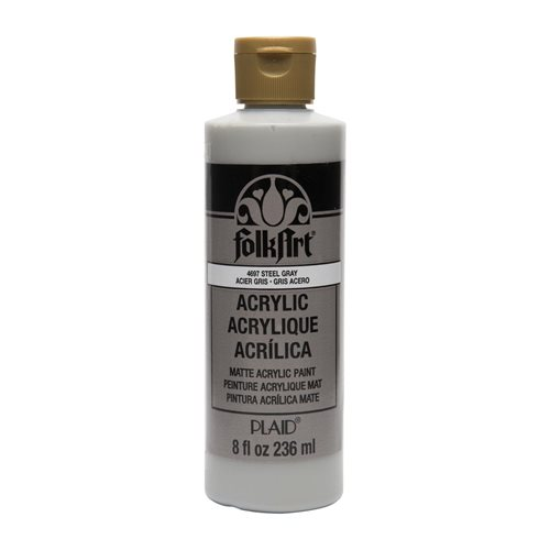 FolkArt ® Acrylic Colors - Steel Gray, 8 oz. - 4697