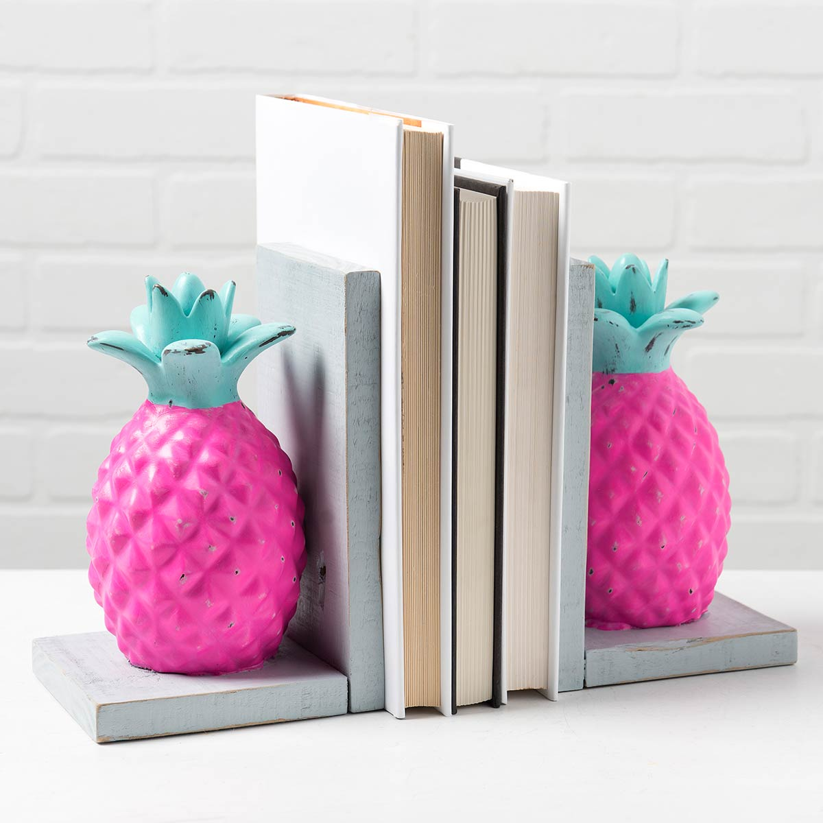 Bright Pineapple Bookends