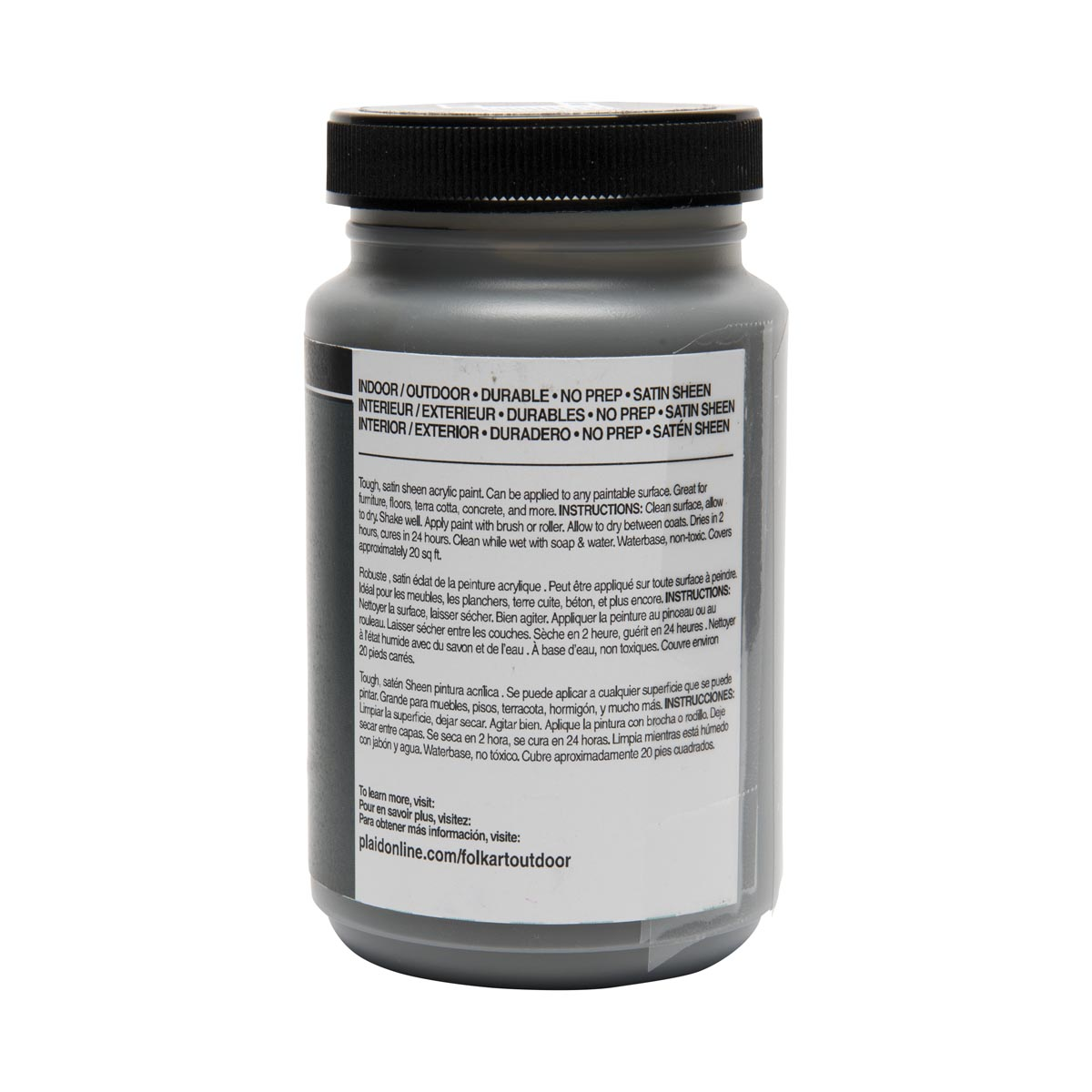 FolkArt ® Outdoor™ Acrylic Colors - Zinc, 8 oz.