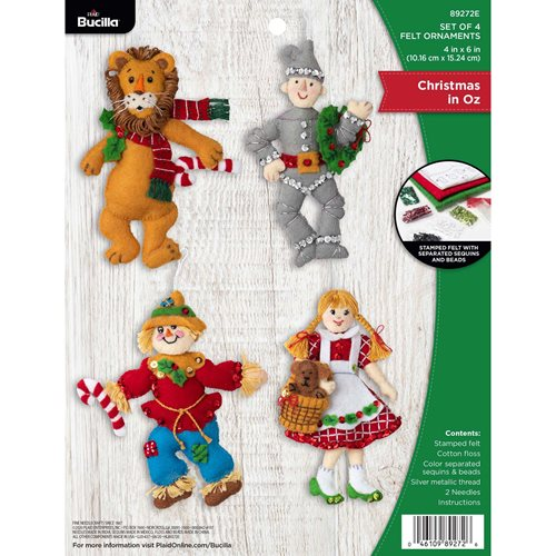 Bucilla ® Seasonal - Felt - Ornament Kits - Christmas in Oz - 89272E