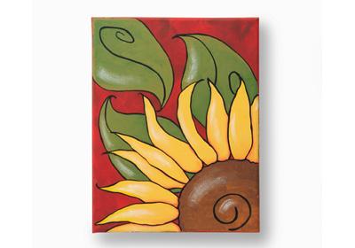 Fall Sunflower Canvas