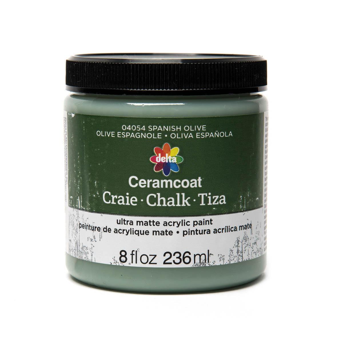 Delta Ceramcoat ® Chalk - Spanish Olive, 8 oz.