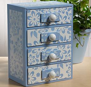Debbie's Floral Jewelry Box