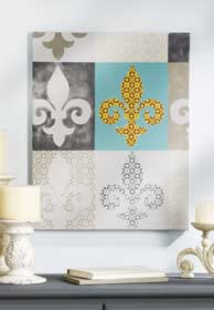Beautiful Fleur de Lis Canvas
