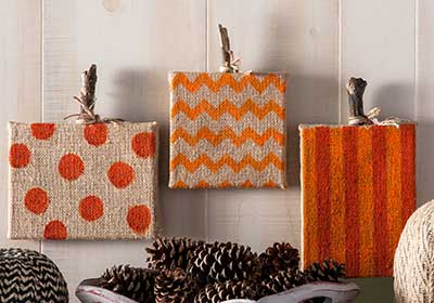 Happy Fall Burlap Canvases