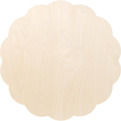 "Large Wood Circle Plaque, 19-1/4"" - 99458"