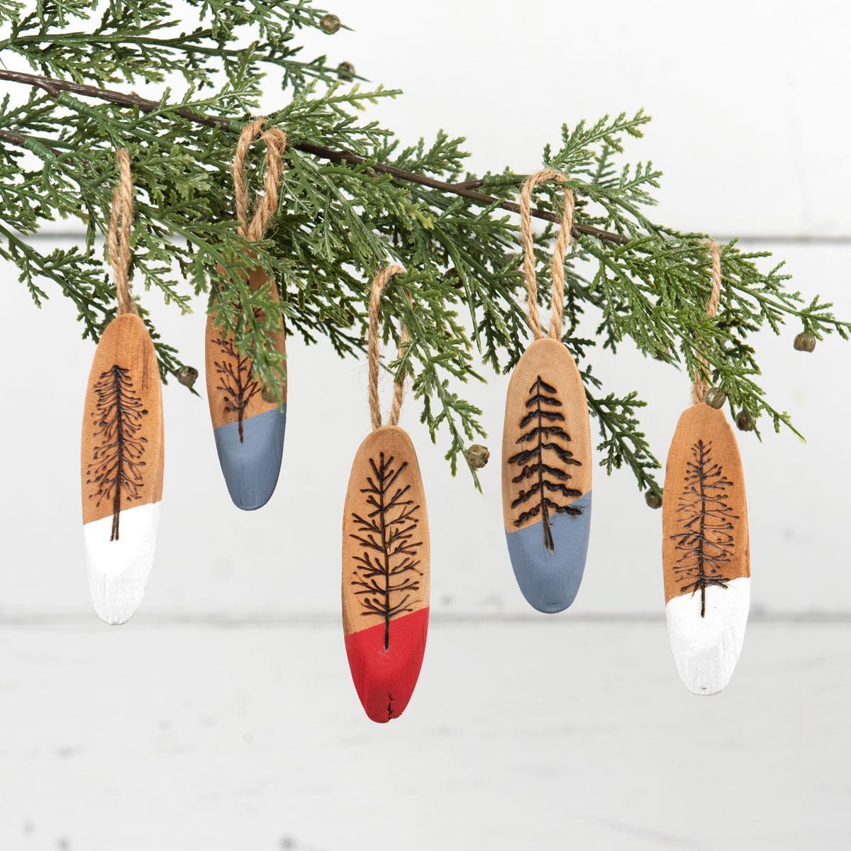 Wood-Burned Driftwood Ornaments