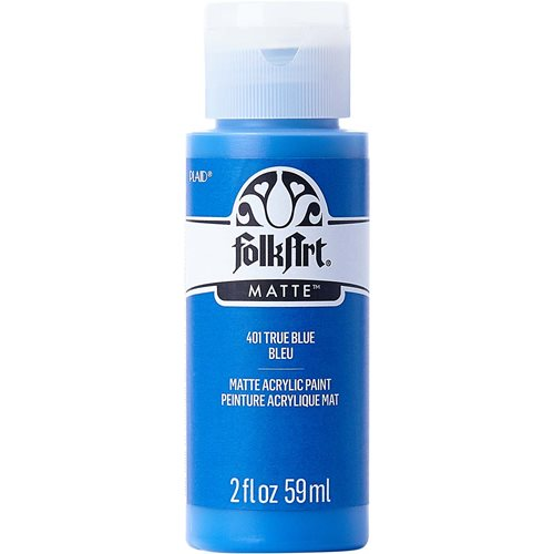 FolkArt ® Acrylic Colors - True Blue, 2 oz. - 401