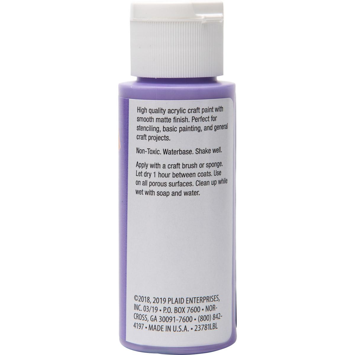 Plaid ® Painter's Palette™ Acrylic Paint - Lavender, 2 oz. - 23781