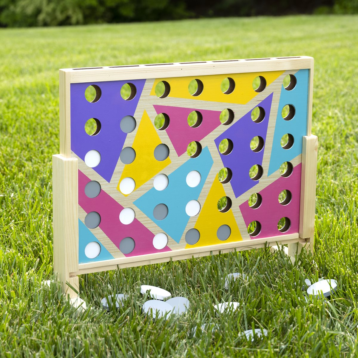 Giant Vertical Lawn Checkers