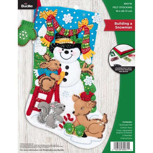 Bucilla ® Seasonal - Felt - Stocking Kits - Building A Snowman - 89071E
